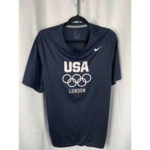 Nike USA olympics london L black shirt